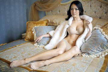 Sexy girl on the bed