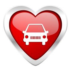 car valentine icon auto sign