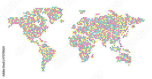 World map dots random color eps 10 stock image and royalty free world map dots random color eps 10 gumiabroncs Images