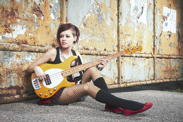 She loves to be punk bass player