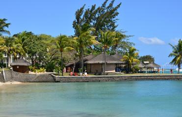 picturesque area of  La Pointe aux Canonniers in Mauritius Repu