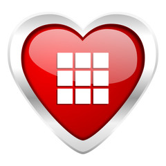 thumbnails grid valentine icon gallery sign