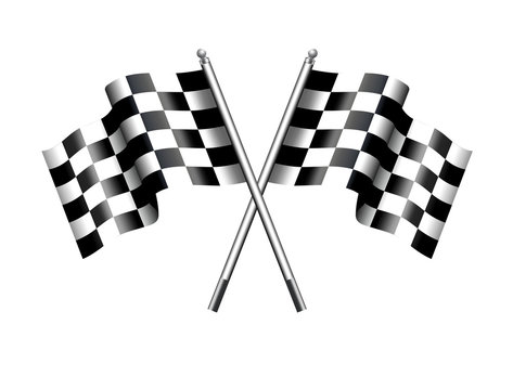Chequered Checkered Flag Motor Racing