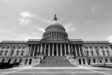 US Capitol - black and white