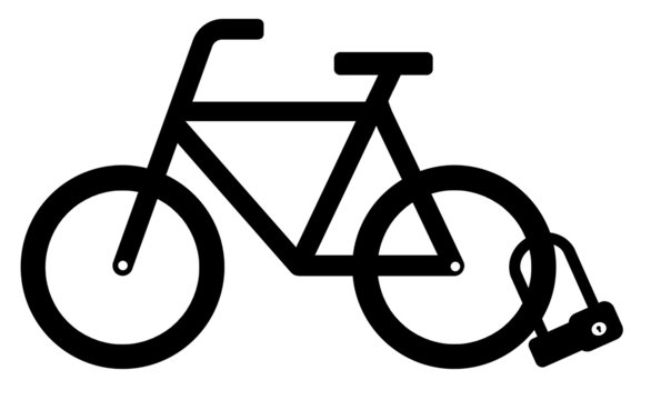 Cadenas à anse sur un vélo