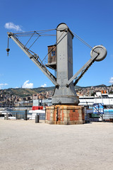 Historischer Kran, Porto Antico, Genua