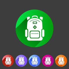 Backpack, schoobag, rucksack flat icon
