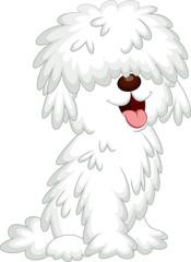 Cute sheepdog cartoon