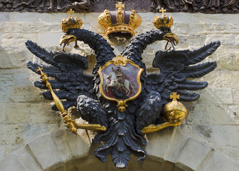 double-headed eagle, the symbol of Russia (Peter and Paul Fortre