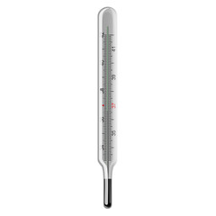 Mercury thermometer. Vector.