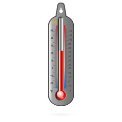 Dark thermometer. Vector.