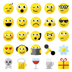 Set of 25 emoticons