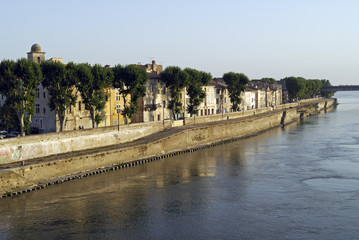 Arles and the river