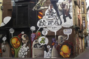 Zaragoza  (Spain), mural painting