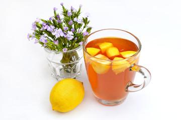 Glass of lemon tea