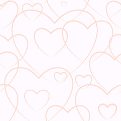 Seamless background consisting of hearts for Valentine's day