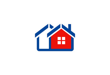 realty house vector logo