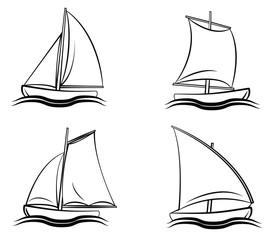 Boat Symbol Set Collection