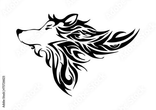 Wolf head designs