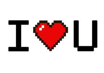 i love u pixel