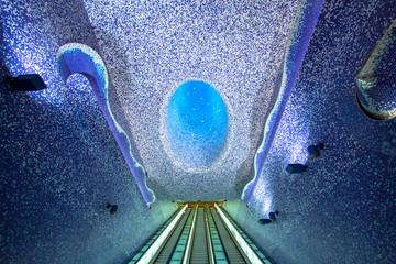 Fotobehang Napels Toledo subway station, Naples