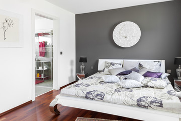 Schlafzimmer Doppelbett © Matthias Buehner