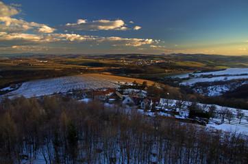 Last snow in the village