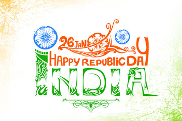 Indian tricolor flag for Happy Republic Day