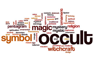 Occult word cloud