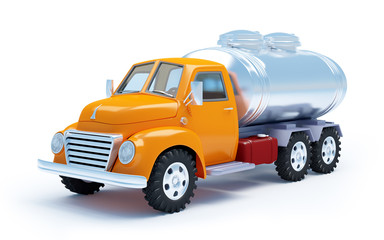 cartoon tanker truck