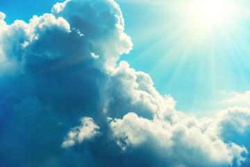 Spoed Fotobehang Hemel Blue clouds and sky