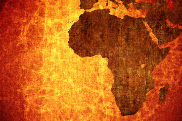 Fotobehang Afrika Grunge vintage scratched Africa map background.
