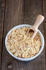 Oat, barley and wheat flakes