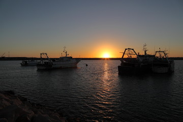Marinerie al tramonto