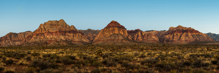 Mountain Range in Red Rock Canyon Nevada