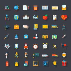 Big flat icons set