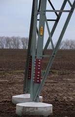 High Voltage Sign On Frame