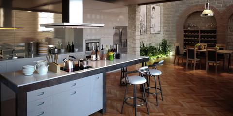Kitchen in the Loft