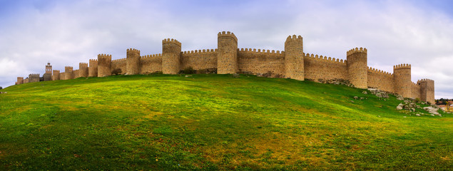 Panorama of medieval town walls Wall mural