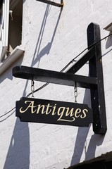 Wooden Antiques Sign © Arena Photo UK
