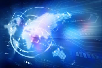 Digital world , global internet technology .
