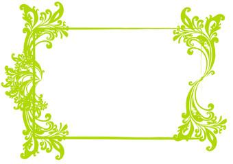 grüner Rahmen Frühling