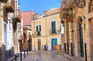 Foto op Canvas Barcelona Alleyway. San Severo. Puglia. Italy.