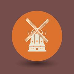 Windmill symbol, vector
