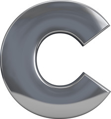 Metal Letter C