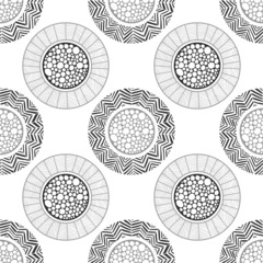 Seamless abstract decorative pattern of circles