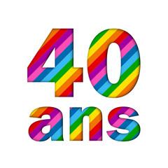 Icône 40 ANS (fête félicitations joyeux anniversaire)