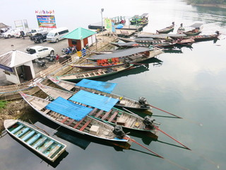 Asian Thai local motorboats