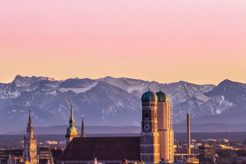 Alps sunset Muich