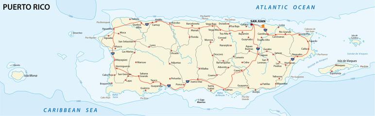 puerto rico road map